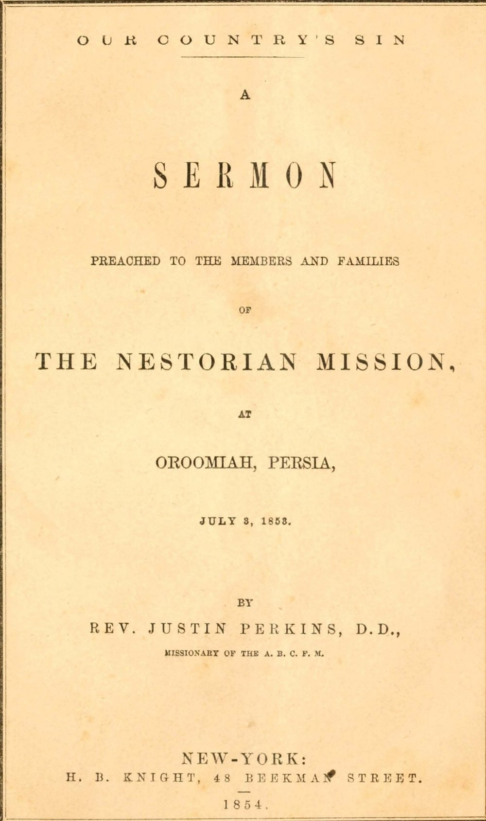 Perkins, Justin, Our Country's Sin Title Page.jpg