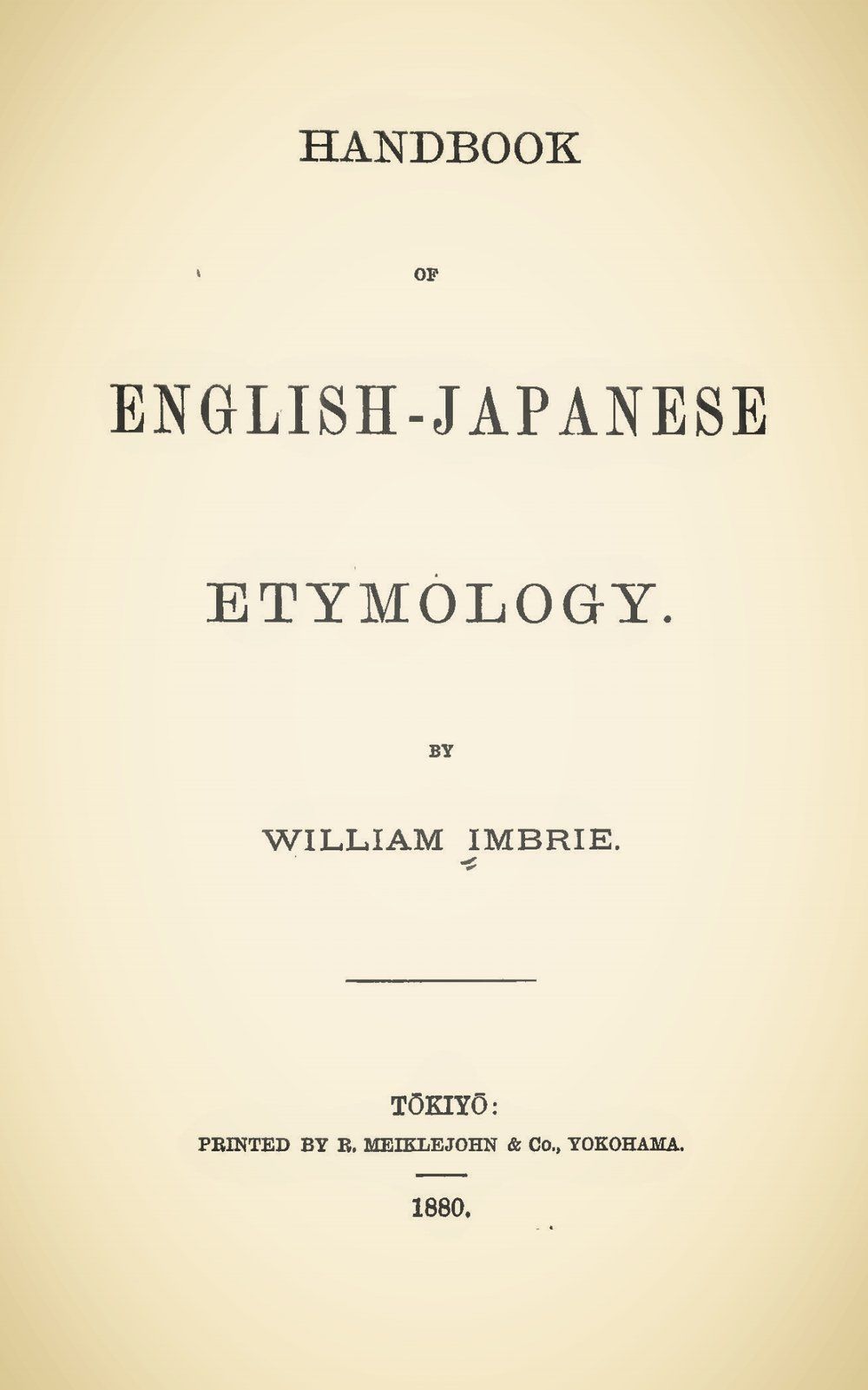 Imbrie, William, Handbook of English-Japanese Etymology Title Page.jpg