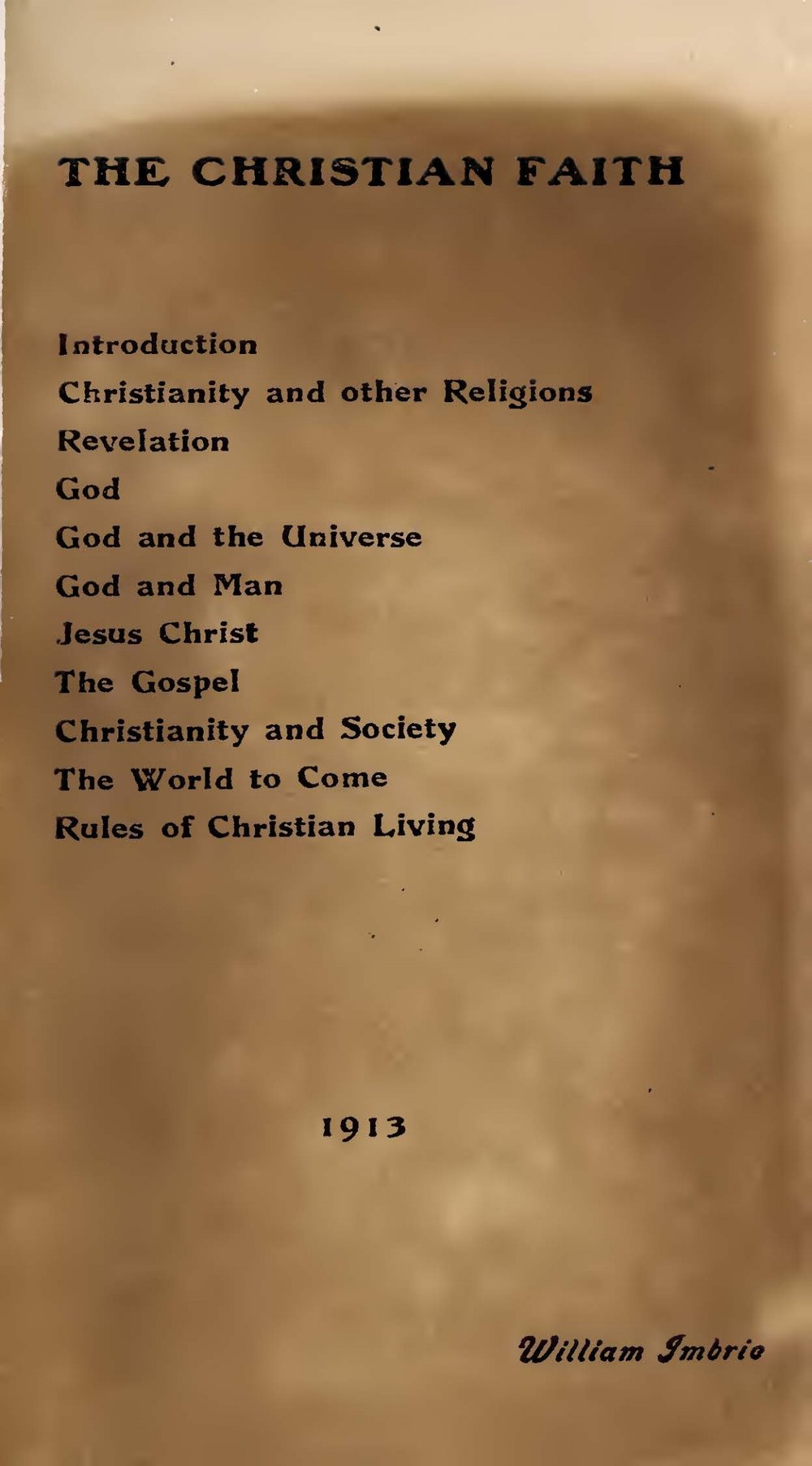 Imbrie, William, The Christian Faith Title Page.jpg