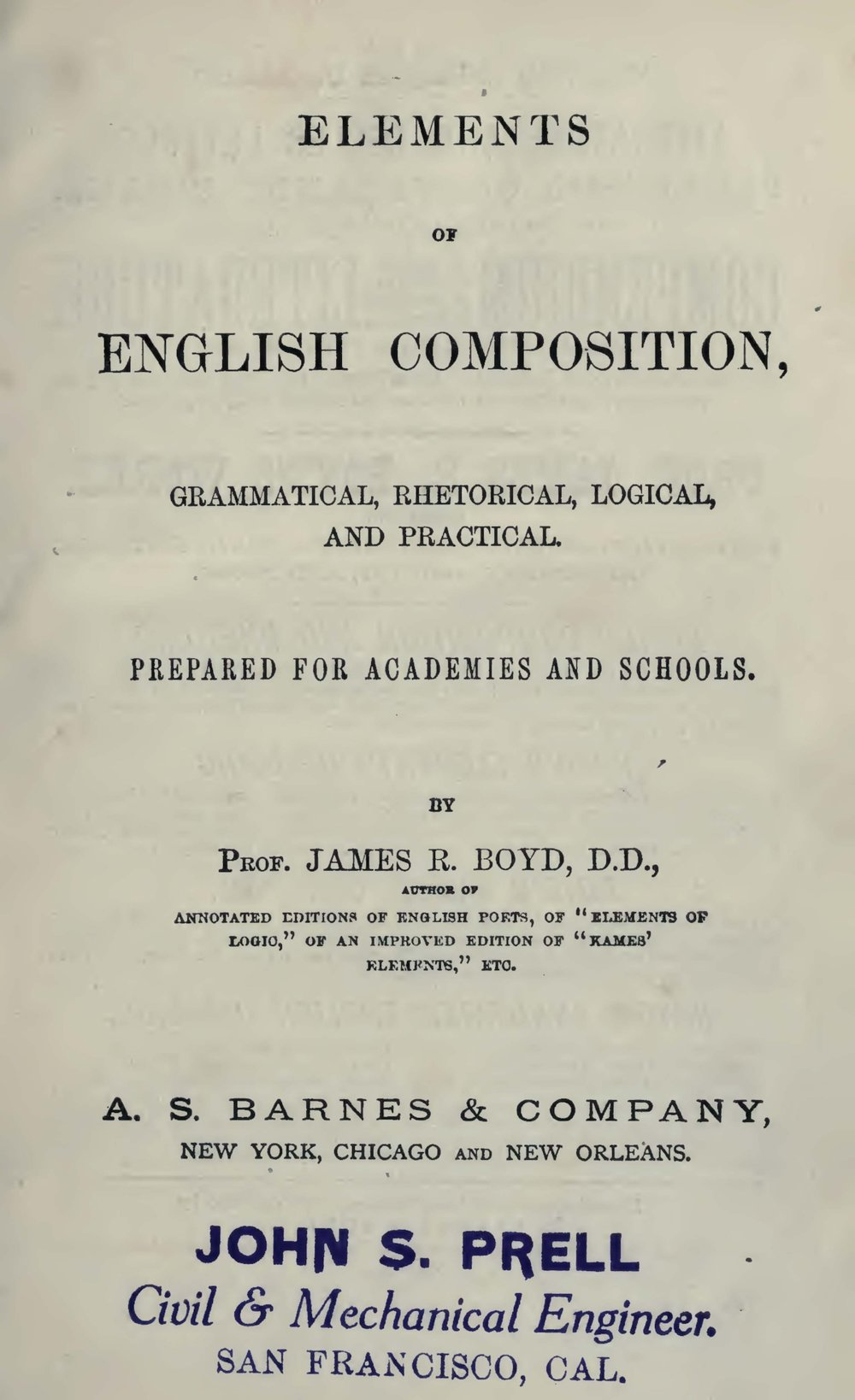 Boyd, James Robert, Elements of English Composition Title Page.jpg