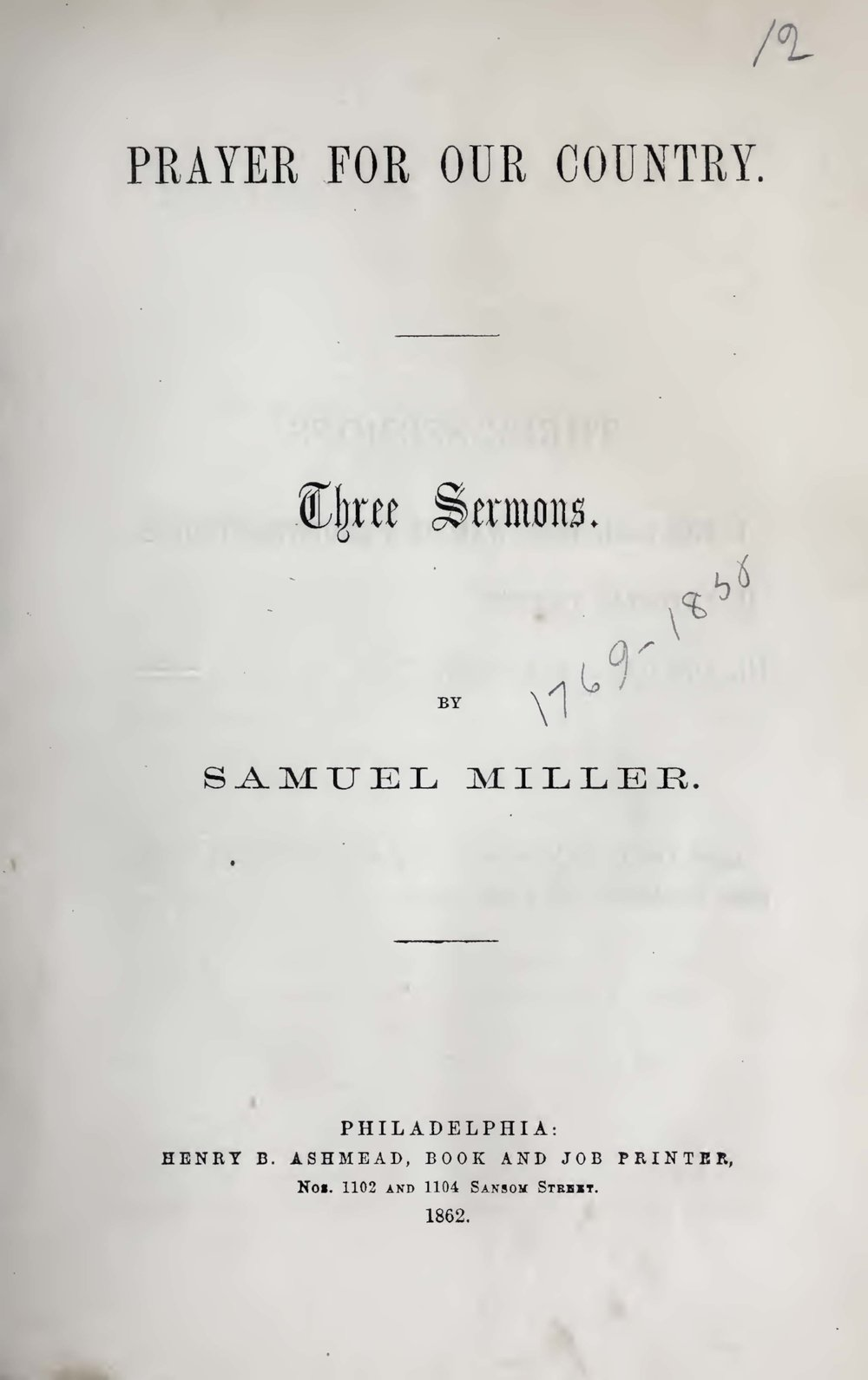 Miller, Jr., Samuel, Prayer for Our Country Title Page.jpg
