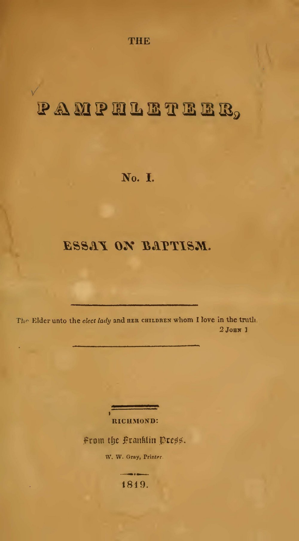 Rice, David, Essay on Baptism Title Page.jpg