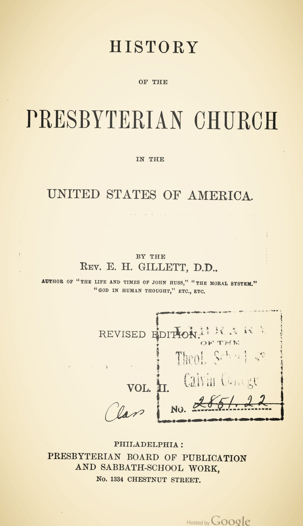Gillett, History of Presbyterian Church, Volume 2.jpg
