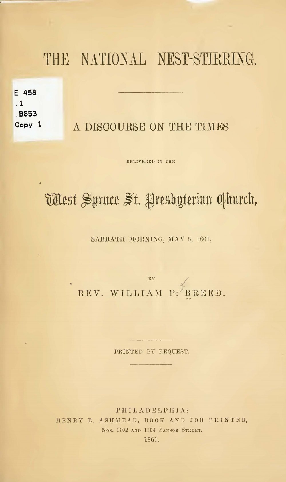 Breed, William Pratt, The National Nest-Stirring Title Page.jpg