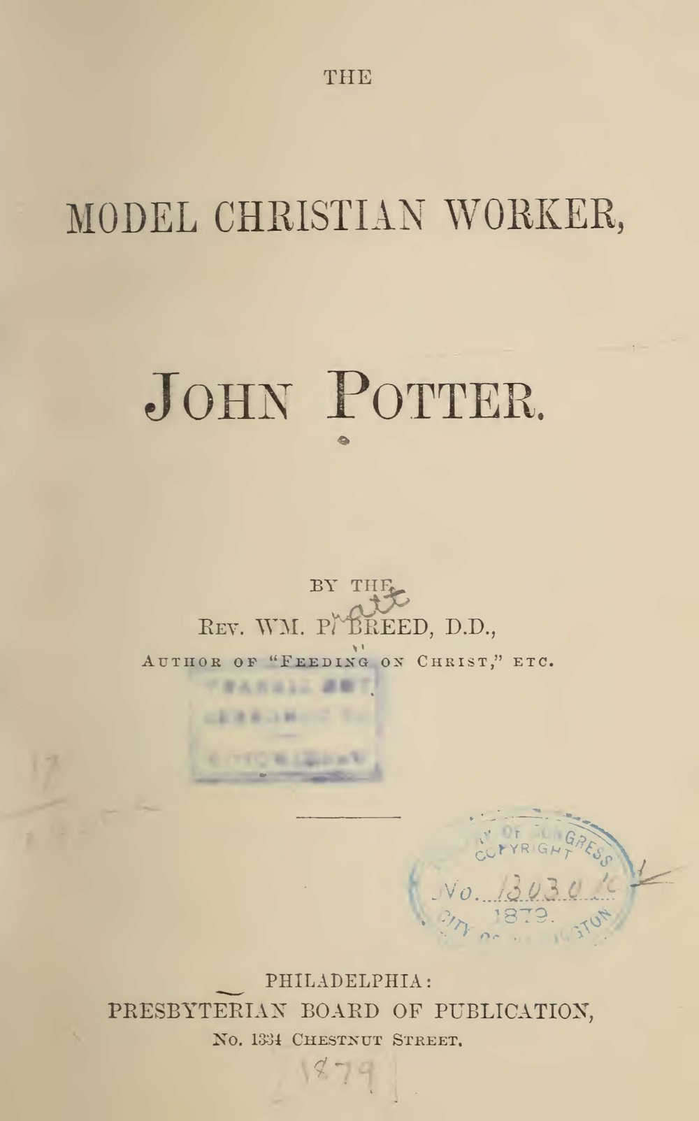 Breed, William Pratt, The Model Christian Worker Title Page.jpg