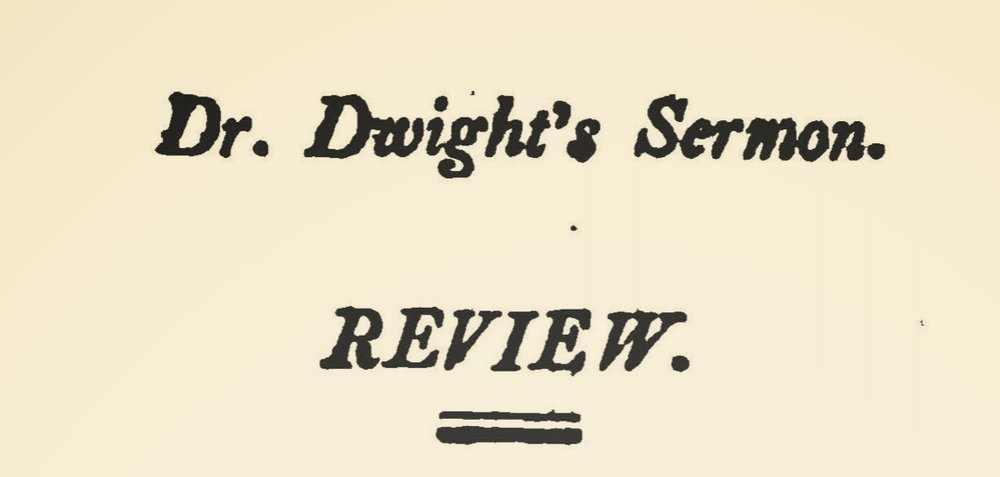 Miller, Samuel, Review of a Sermon by Timothy Dwight, D.D. Title Page.jpg