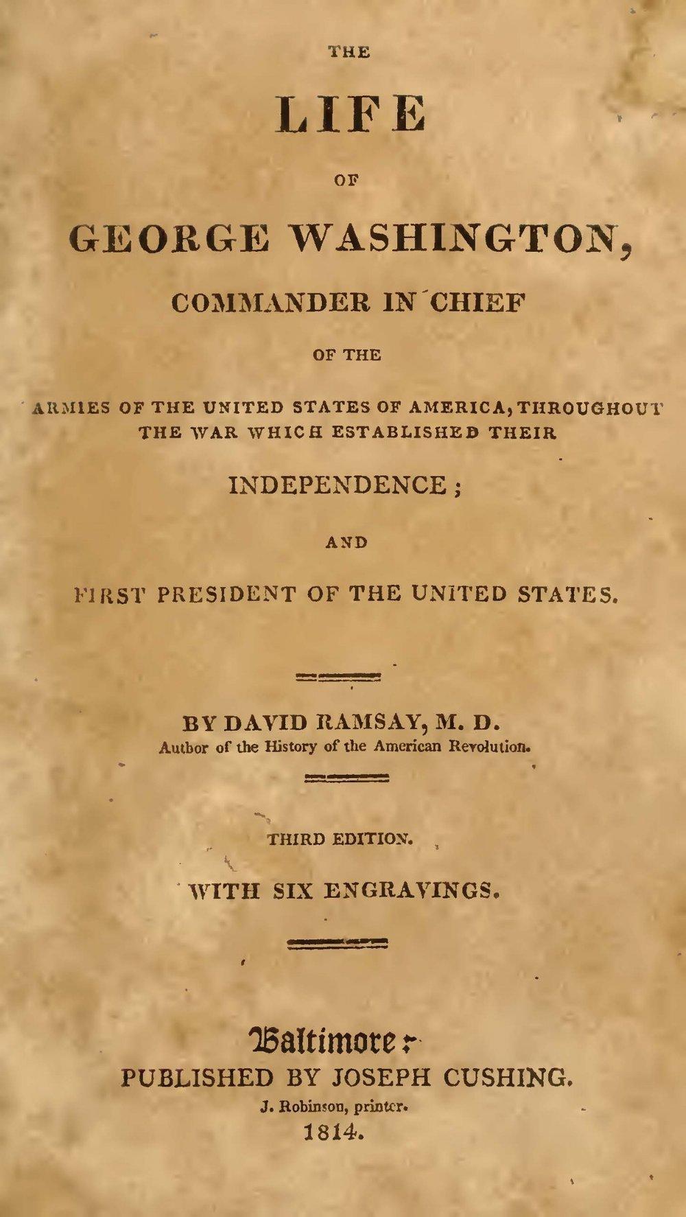 Ramsay, David, The Life of George Washington Title Page.jpg