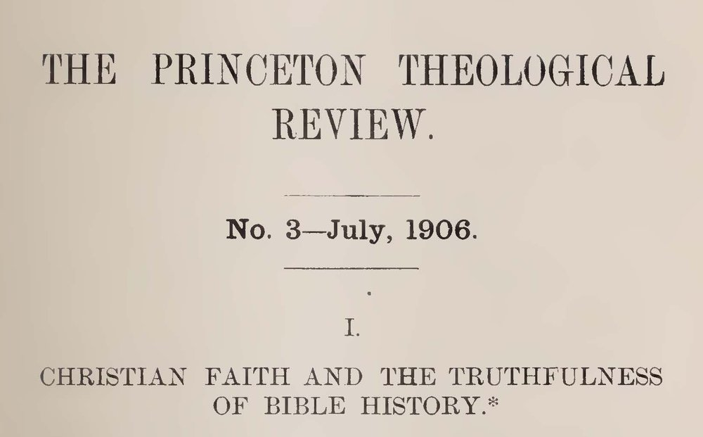 Vos, Geerhardus, Christian Faith and the Truthfulness of Bible History Title Page.jpg