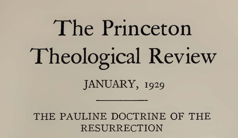 Vos, Geerhardus, The Pauline Doctrine of the Resurrection Title Page.jpg