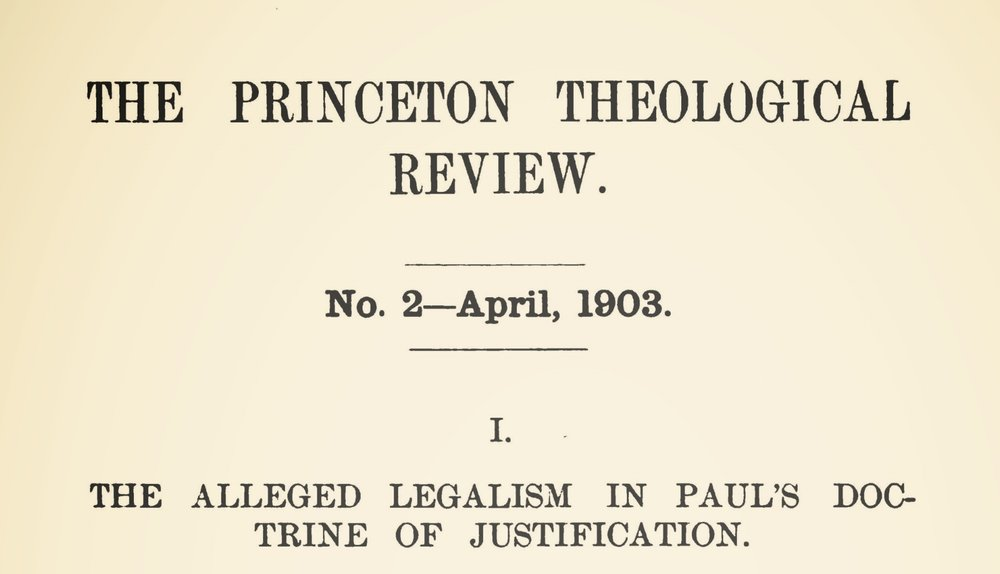 Vos, Geerhardus, The Alleged Legalism in Paul's Doctrine of Justification Title Page.jpg