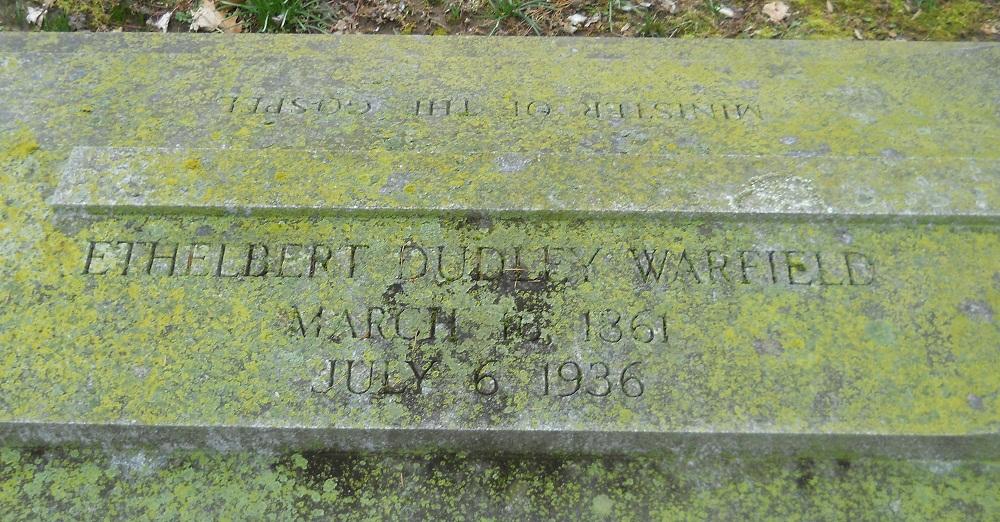 Ethelbert Dudley Warfield is buried at Lexington Cemetery, Lexington, Kentucky.