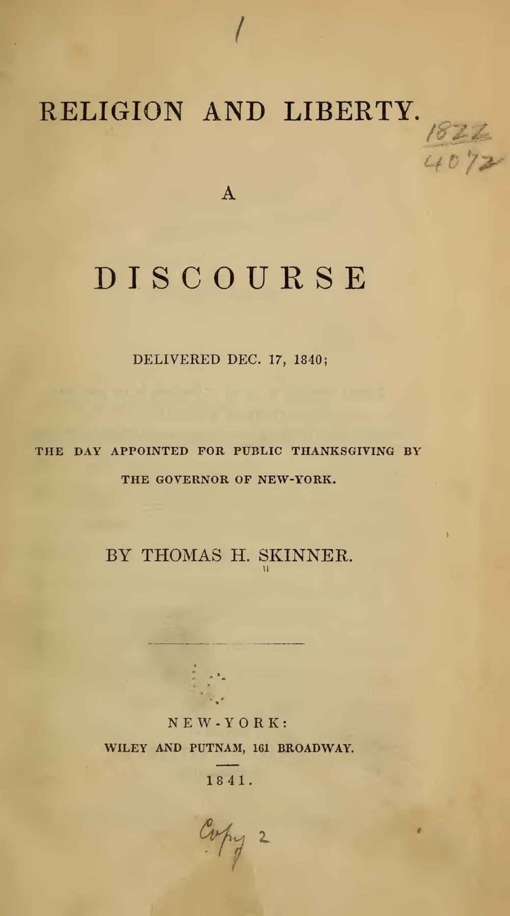 Skinner, Thomas Harvey, Religion and Liberty Title Page.jpg