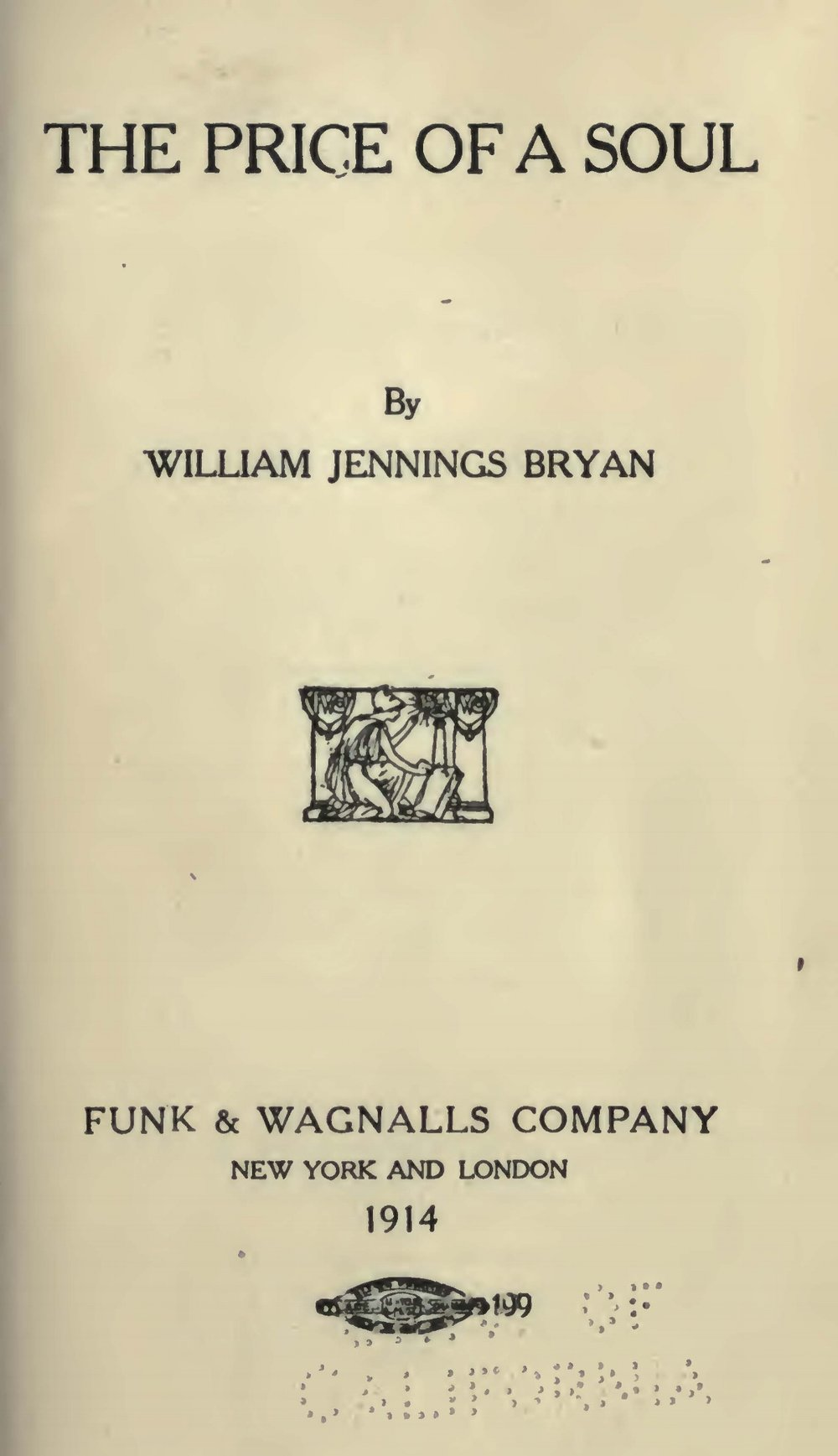 Bryan, Sr., William Jennings, The Price of a Soul Title Page.jpg