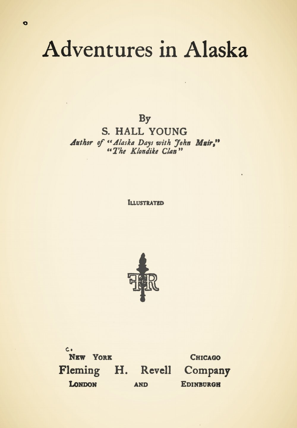 Young, Samuel Hall, Adventures in Alaska Title Page.jpg