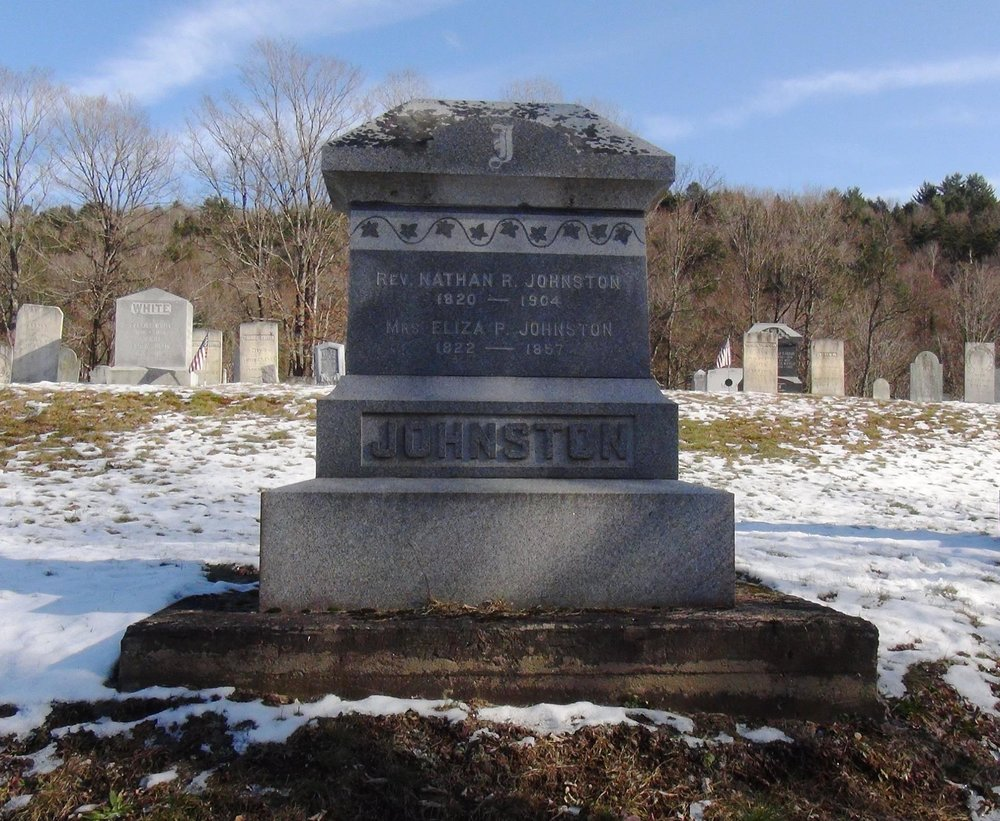 Nathan Robinson Johnston is buried in East Topsham, Vermont. Photo credit: Larry Gladfelter, Jr.
