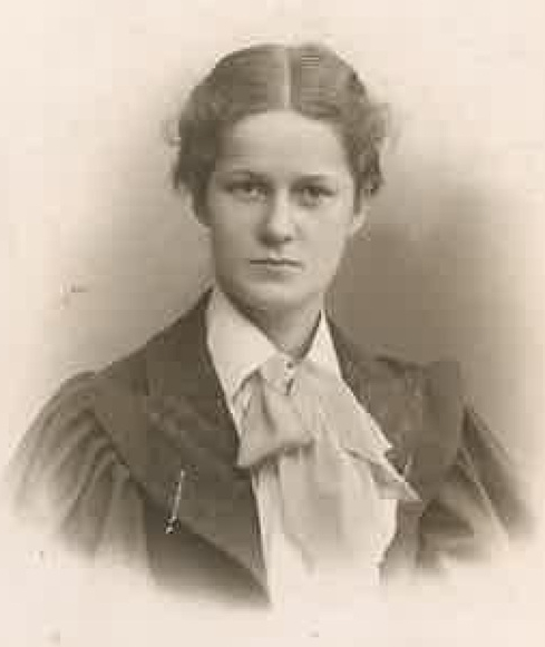 Katherine Heath Hawes pictured in 1895.