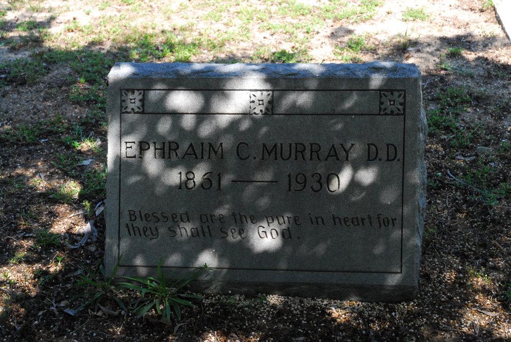 Ephraim C. Murray is buried at Saint Pauls Presbyterian Church Cemetery, Saint Pauls, North Carolina.