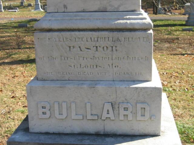 Artemas Bullard, Jr. is buried at Bellefontaine Cemetery, Saint Louis, Missouri.