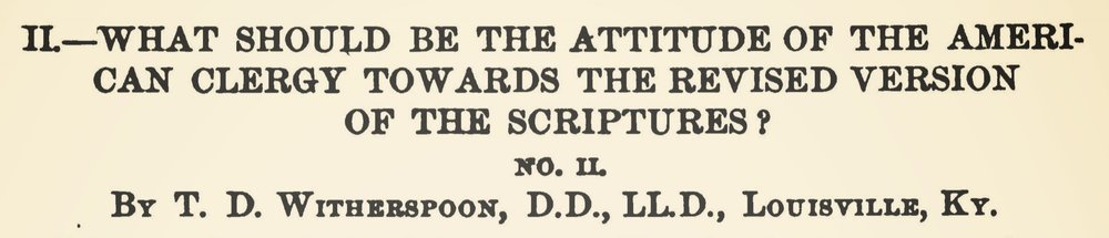 Witherspoon, Thomas Dwight, What Should Be the Attitude of the American Clergy Title Page.jpg