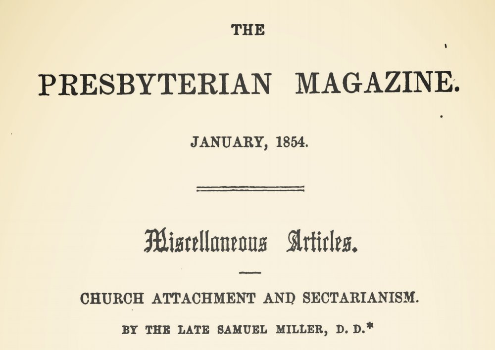 Miller, Samuel, Church Attachment and Sectarianism Title Page.jpg