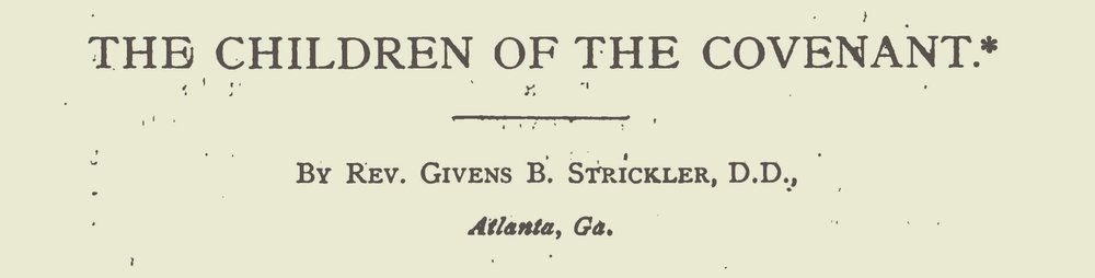 Strickler, Givens Brown, The Children of the Covenant Title Page.jpg