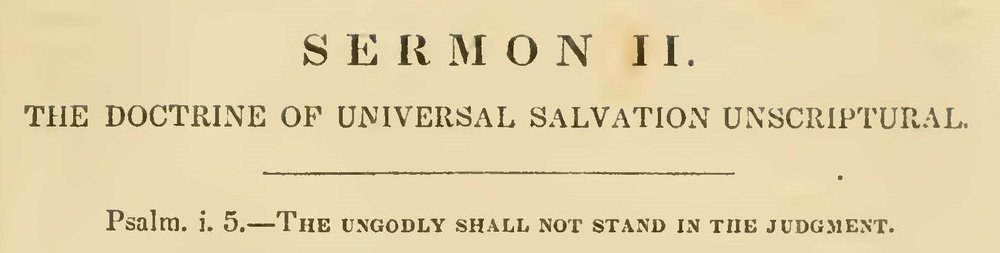 Caldwell, Sr., David Stewart, The Doctrine of Universal Salvation Unscriptural Title Page.jpg