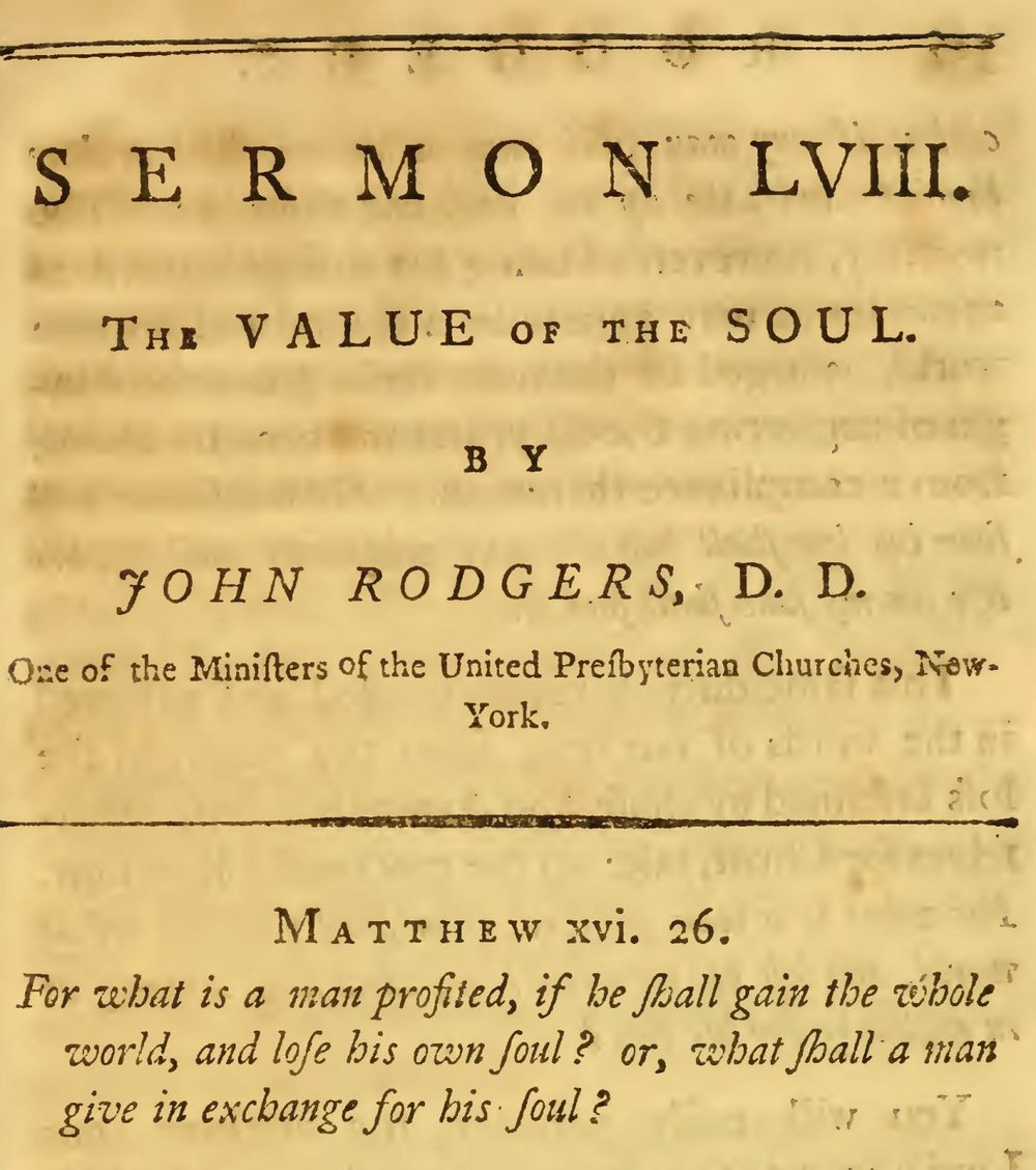Rodgers, John, The Value of the Soul Title Page.jpg