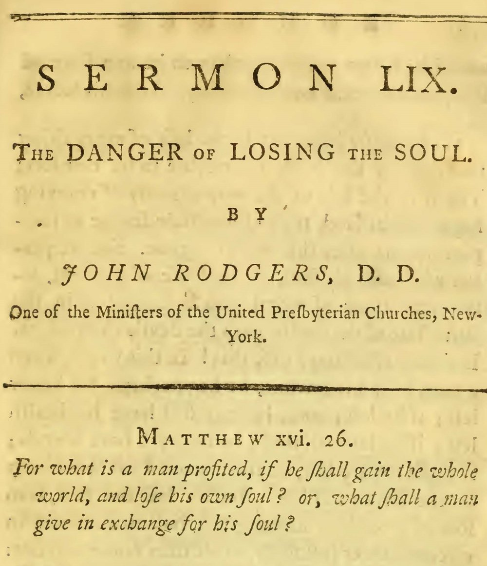 Rodgers, John, The Danger of Losing the Soul Title Page.jpg