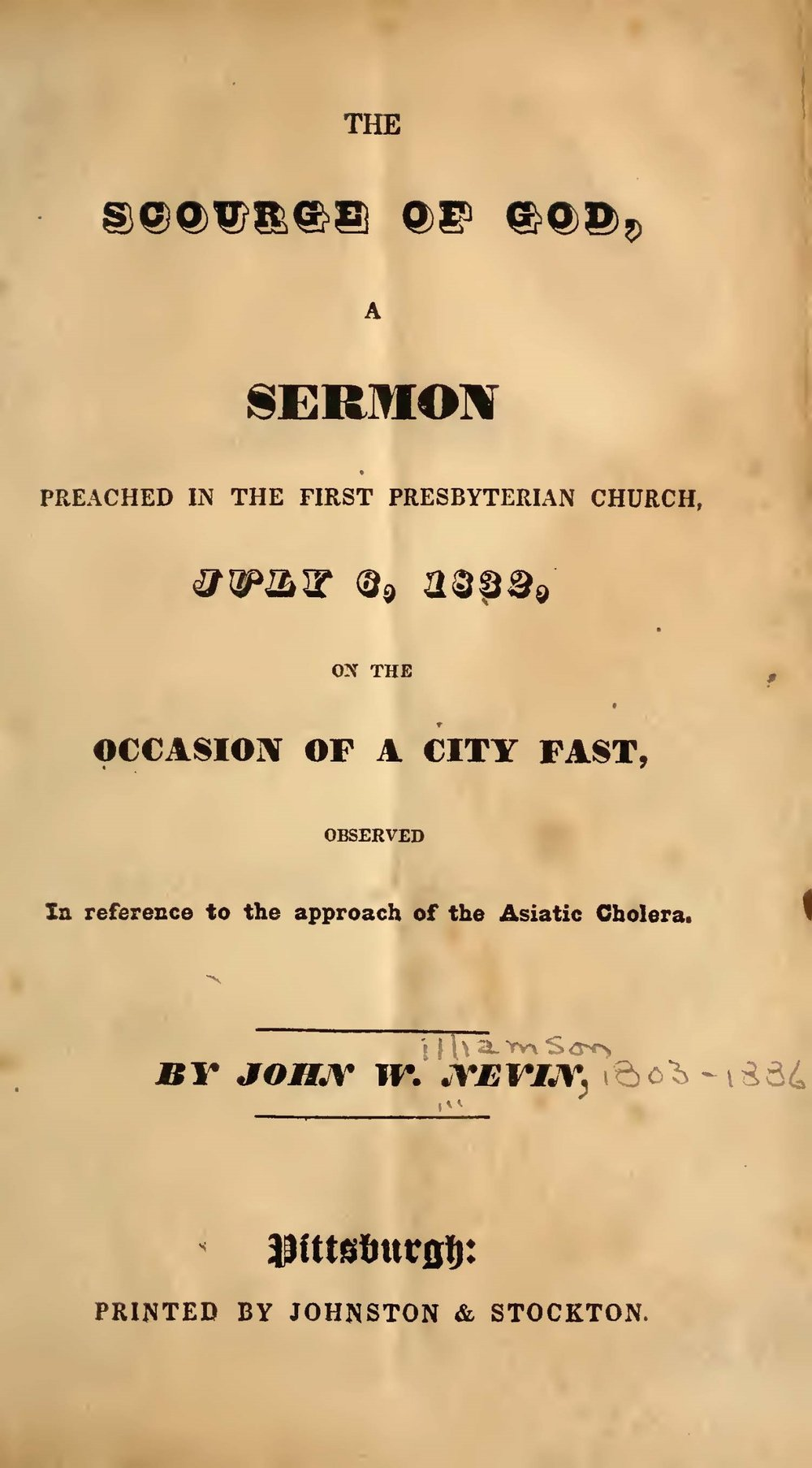 Nevin, John Williamson, The Scourge of God Title Page.jpg