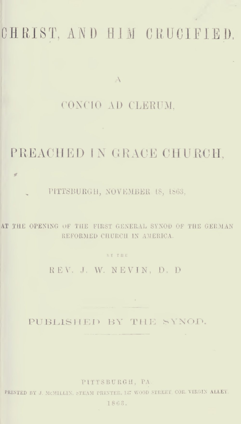 Nevin, John Williamson, Christ, and Him Crucified Title Page.jpg