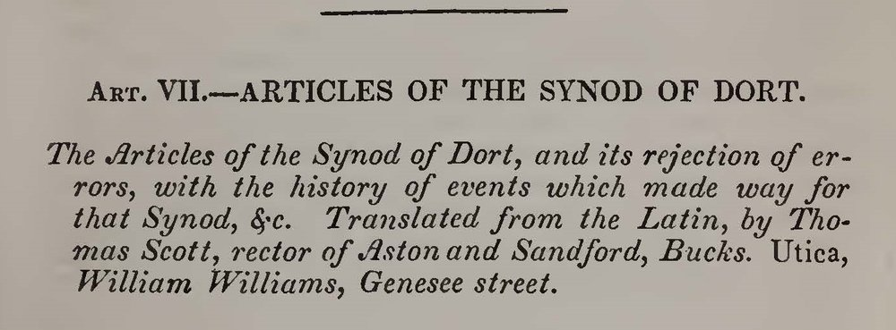 Alexander, Archibald, Review of The Articles of the Synod of Dort Title Page.jpg