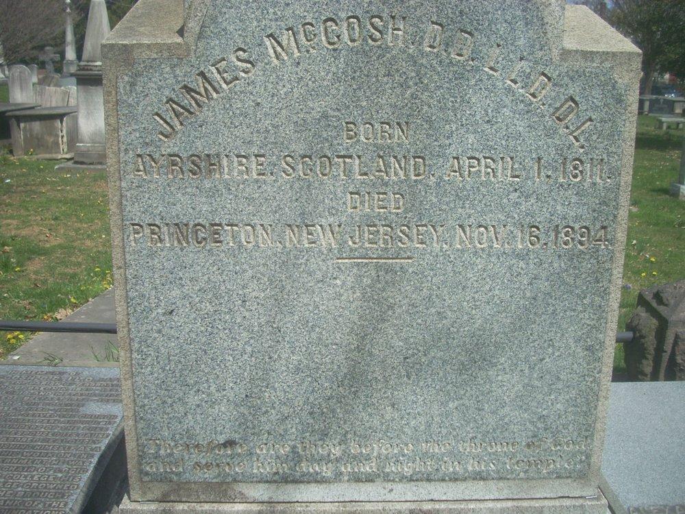 James McCosh is buried at Princeton Cemetery, Princeton, New Jersey.