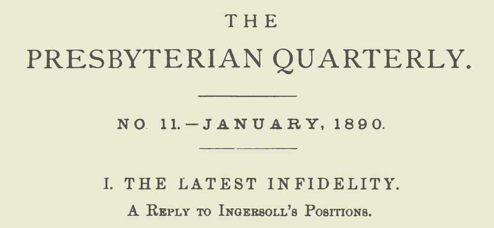 Dabney, Robert Lewis, The Latest Infidelity Title Page.jpg