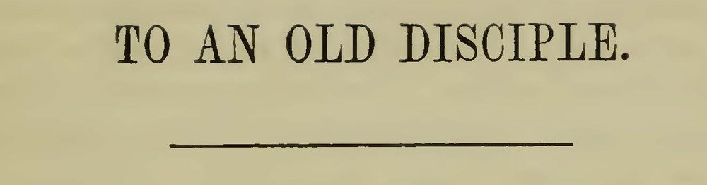 Plumer, William Swan, To an Old Disciple Title Page.jpg
