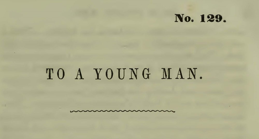 Plumer, William Swan, A Friendly Letter to a Young Man Title Page.jpg