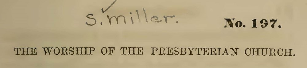Miller, Samuel, The Worship of the Presbyterian Church Title Page.jpg