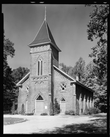 Thyatira Presbyterian Church in Salisbury, North Carolina, where Samuel Eusebius McCorkle served as pastor.