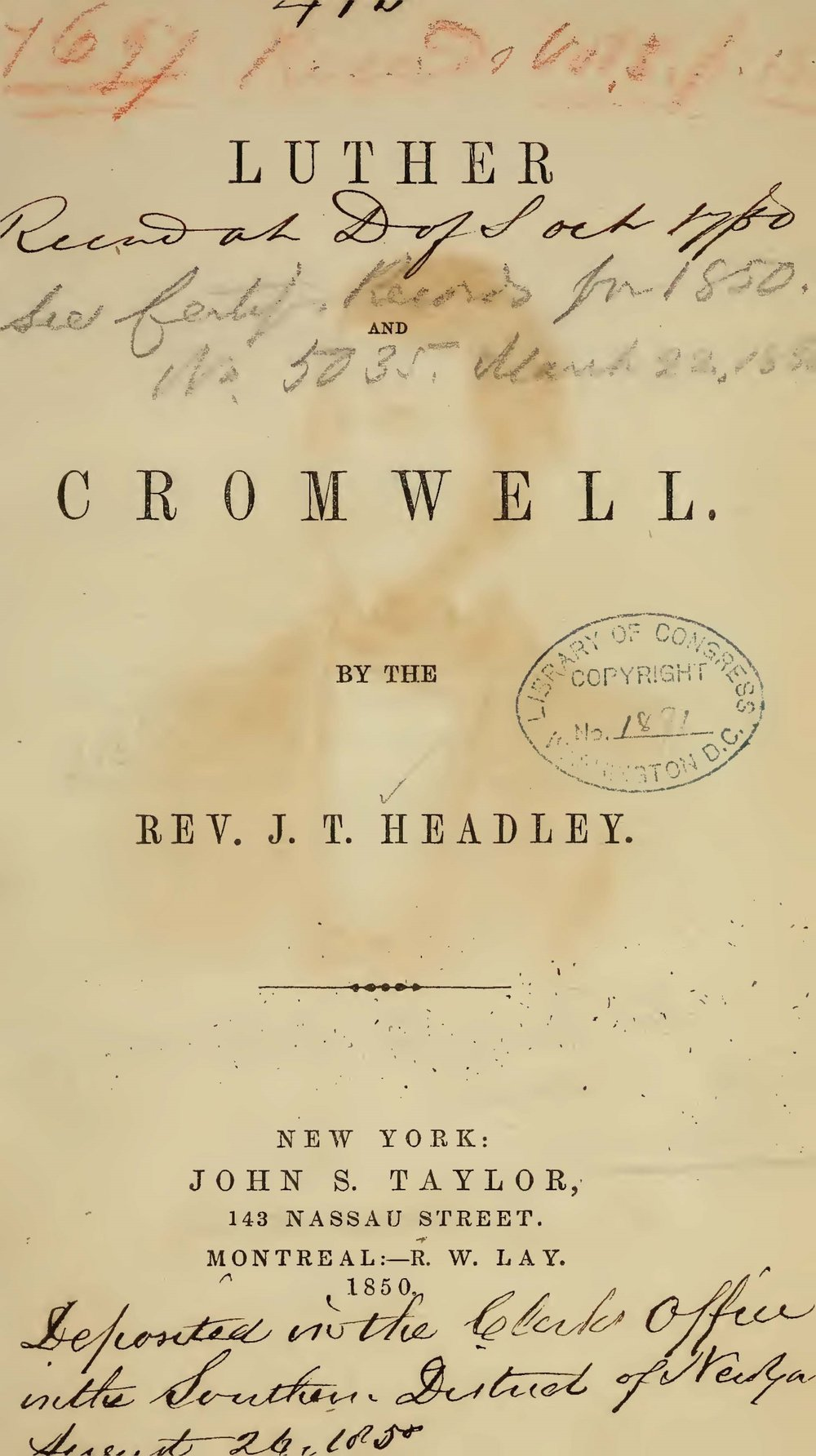 Headley, Joel Tyler, Luther and Cromwell Title Page.jpg