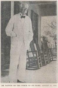 Francis Landey Patton is buried at Princeton Cemetery, Princeton, New Jersey.