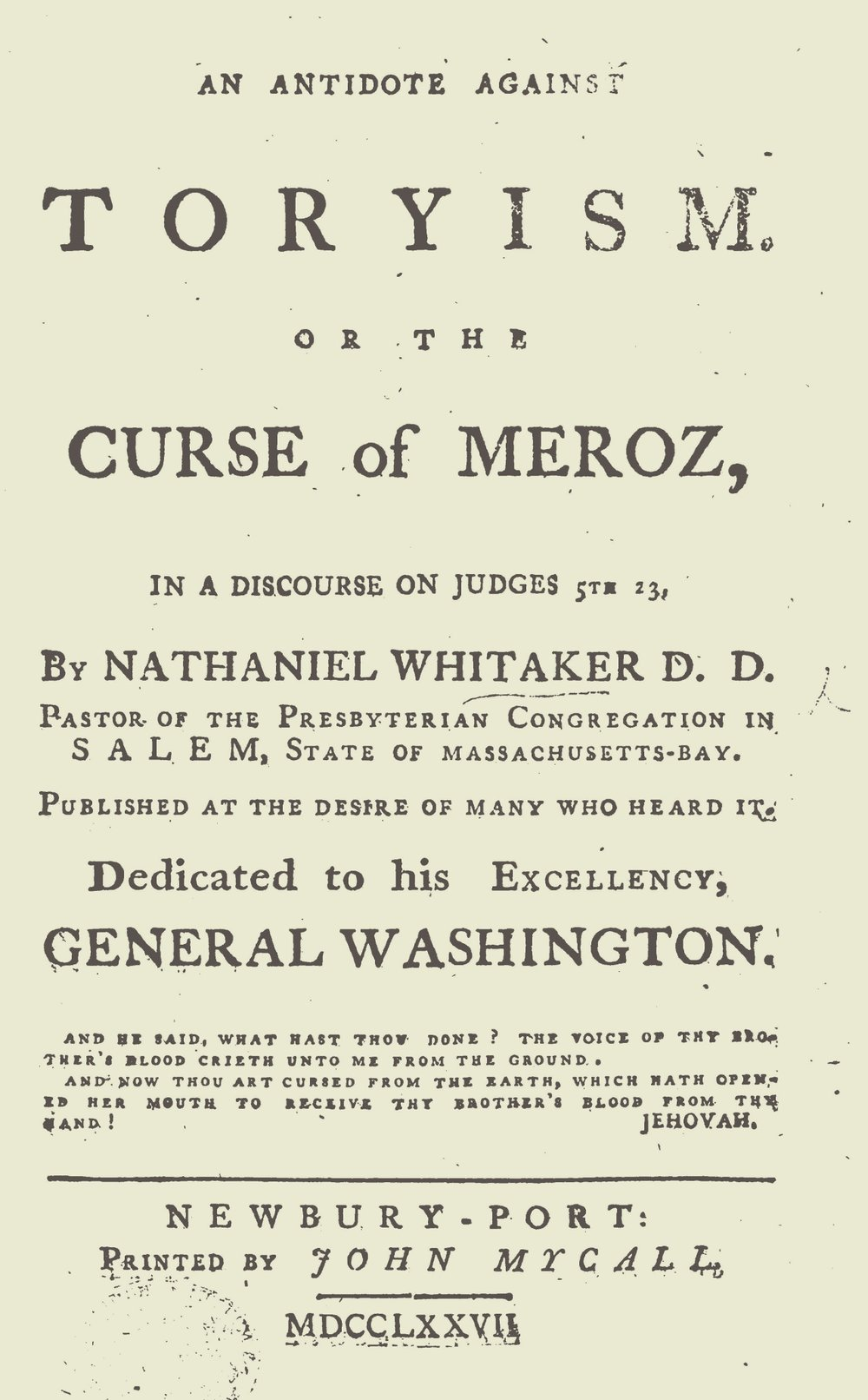 Whitaker, Nathaniel, An Antidote Against Toryism Title Page.jpg