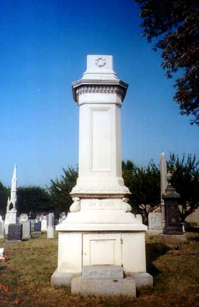 William Wirt is buried at the Congressional Cemetery, Washington, D.C. His grave was robbed in the 1980s and his skull was taken, but it was returned in 2005.