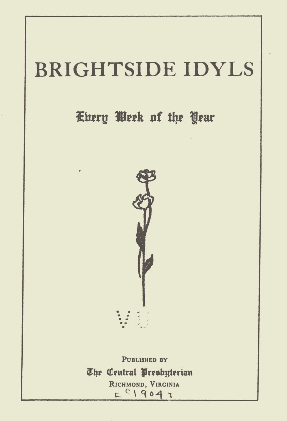 Smith, James Power, Brightside Idyls Title Page.jpg