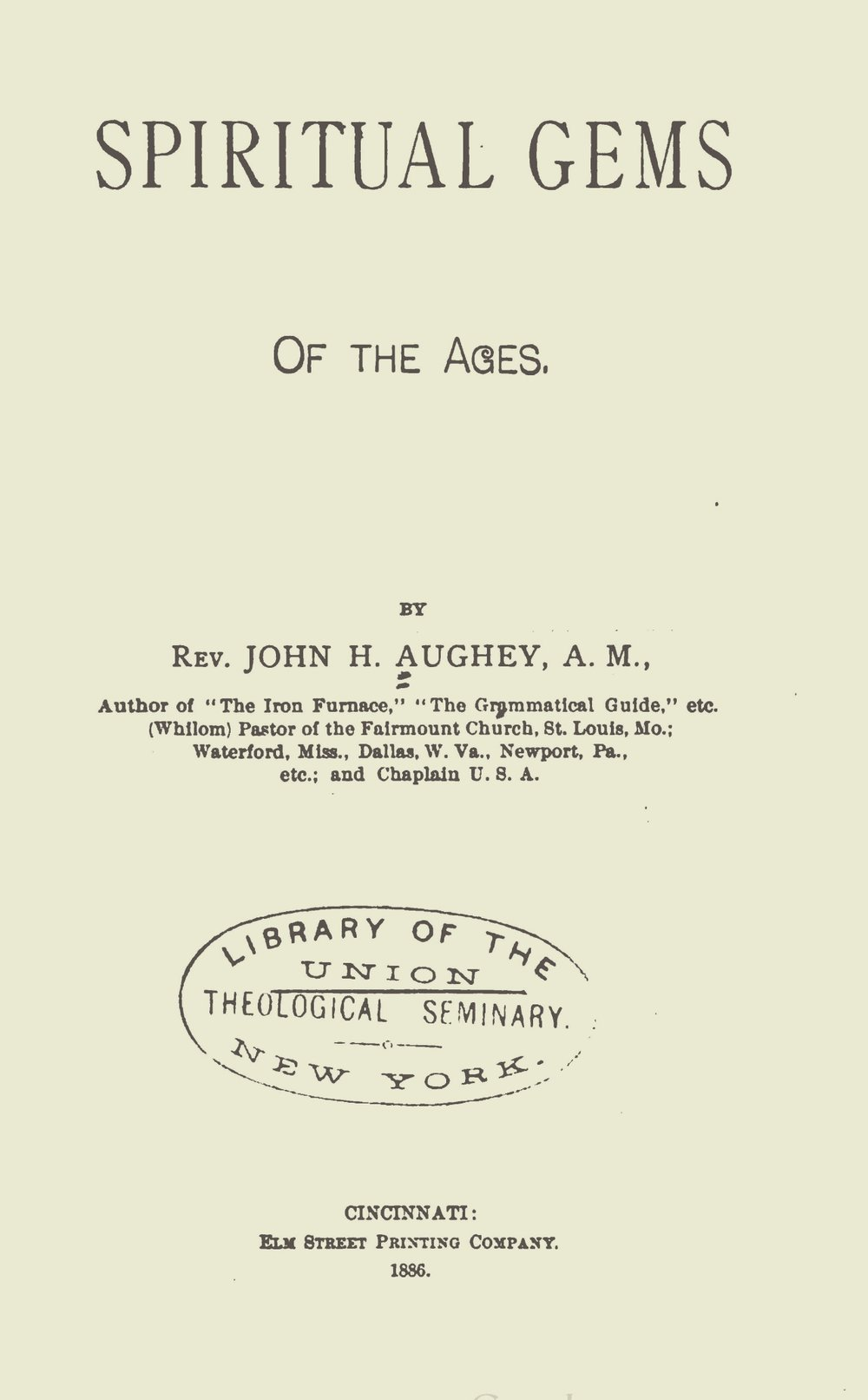 Aughey, John Hill, Spiritual Gems of the Ages Title Page.jpg