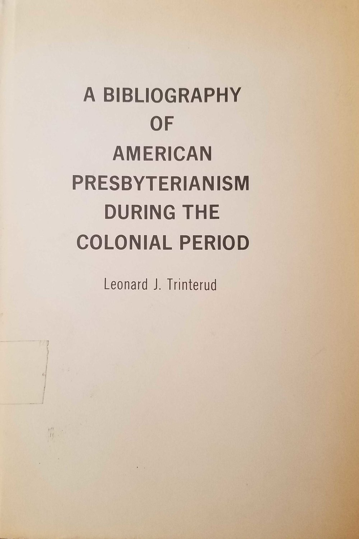 Trinterud, Bibliography.jpg