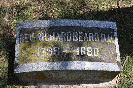 Richard Beard is buried at Cedar Grove Cemetery, Lebanon, Tennessee.