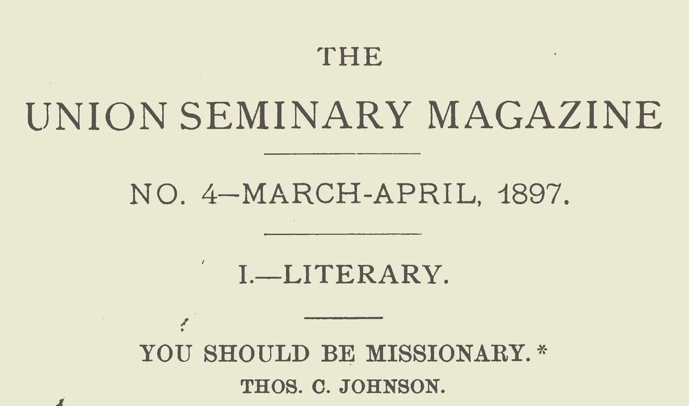 Johnson, Thomas Cary, You Should Be Missionary Title Page.jpg