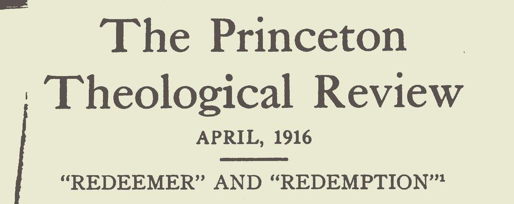 Warfield, Benjamin Breckinridge, Redeemer and Redemption Title Page.jpg