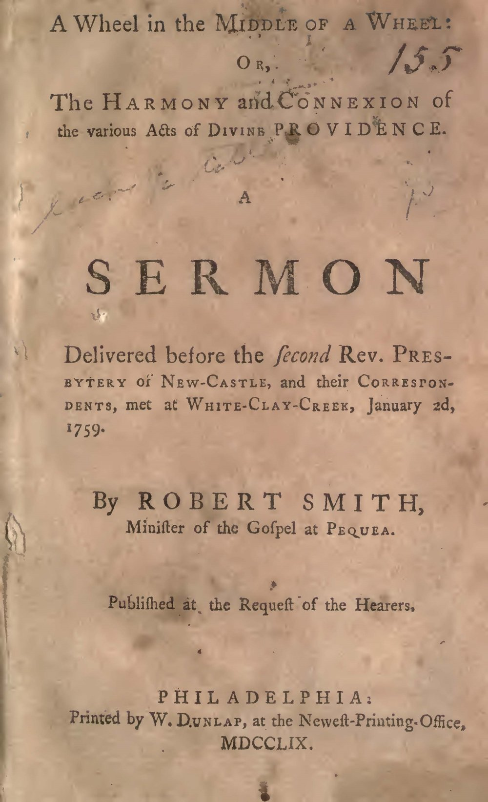 Smith, Robert, A Wheel in the Middle of a Wheel Title Page.jpg
