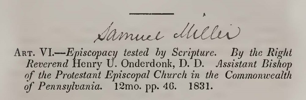 Miller, Samuel, Review of Episcopacy Tested by Scripture Title Page.jpg