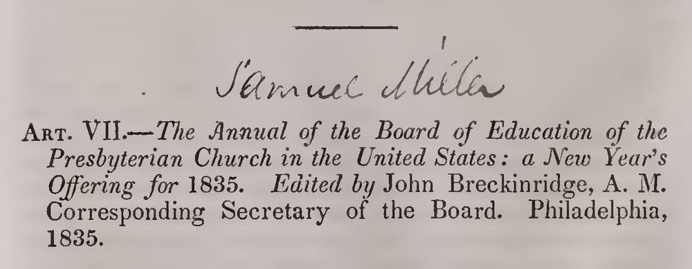 Miller, Samuel, Presbyterian Policy With Respect to Learning Title Page.jpg